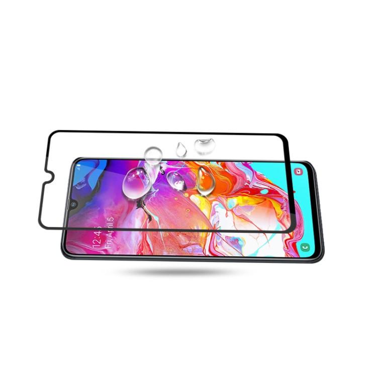 Защитное стекло mocolo 0.33mm 9H 3D Full Glue Silk Print на Samsung Galaxy A70, Support Fingerprint Unlock-черное