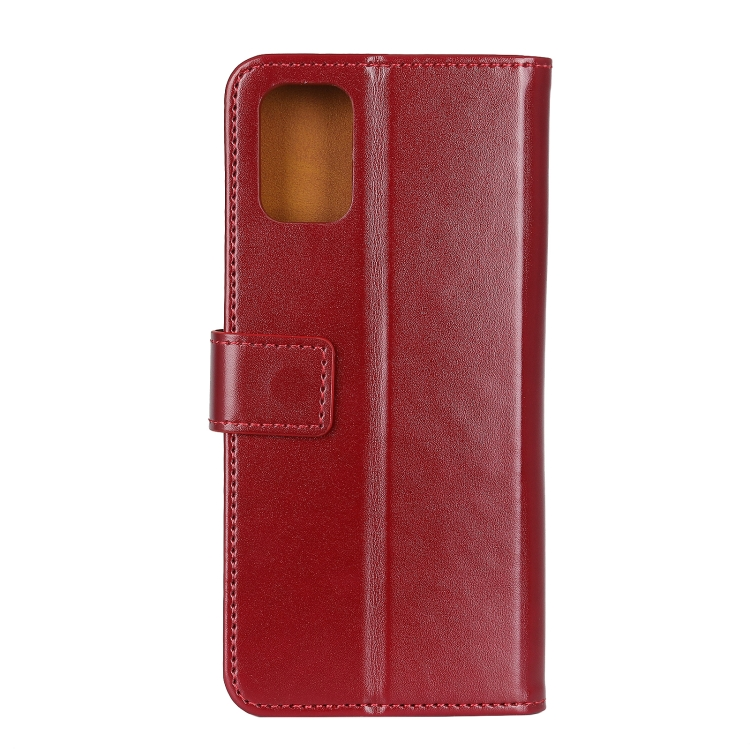 Чехол-книжка 3-Color Pearl на Самсунг A72 - винно-красный