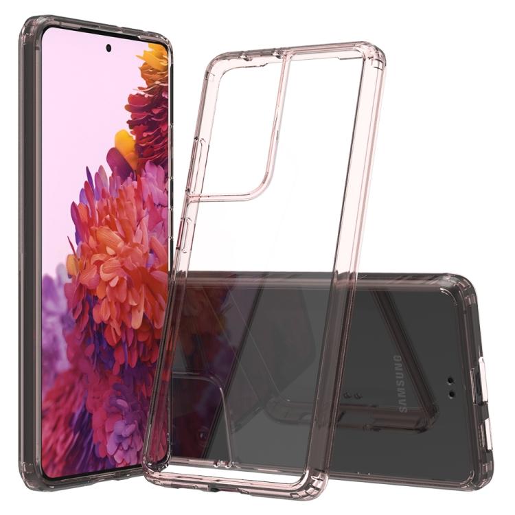 Розовый силиконовый чехол накладка для Самсунг Гелекси С21 Ультра