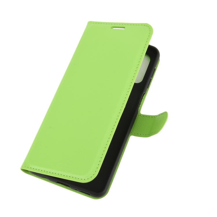 Чехол книжка зеленого цвета с магнитной защелкой для Самсунг Гелекси М31с