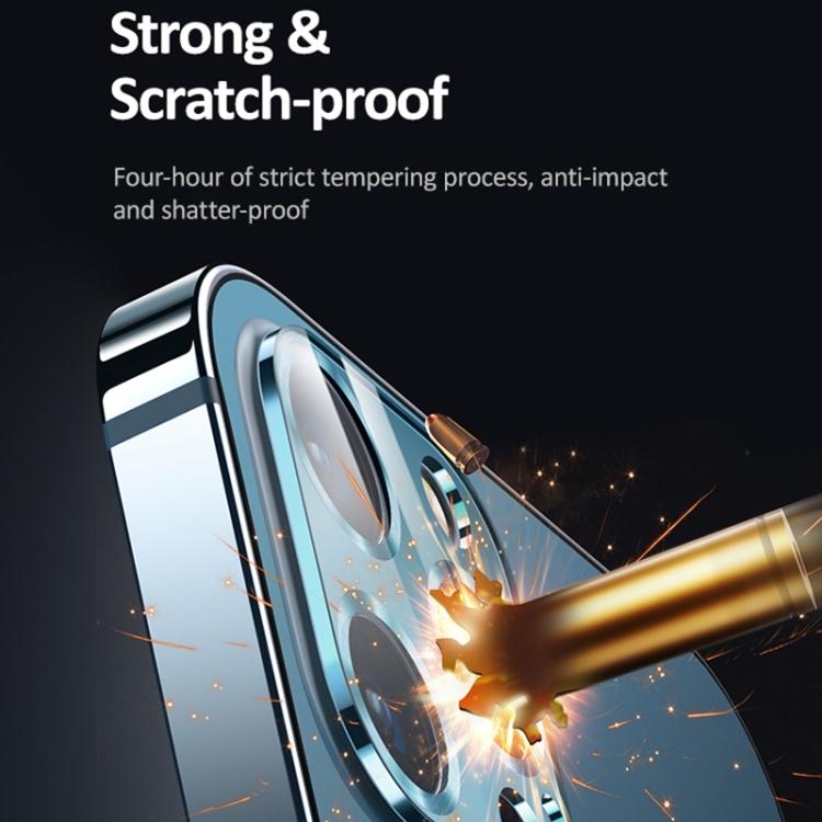Защитное стекло на камеру для Айфон 12 Про Макс - синее