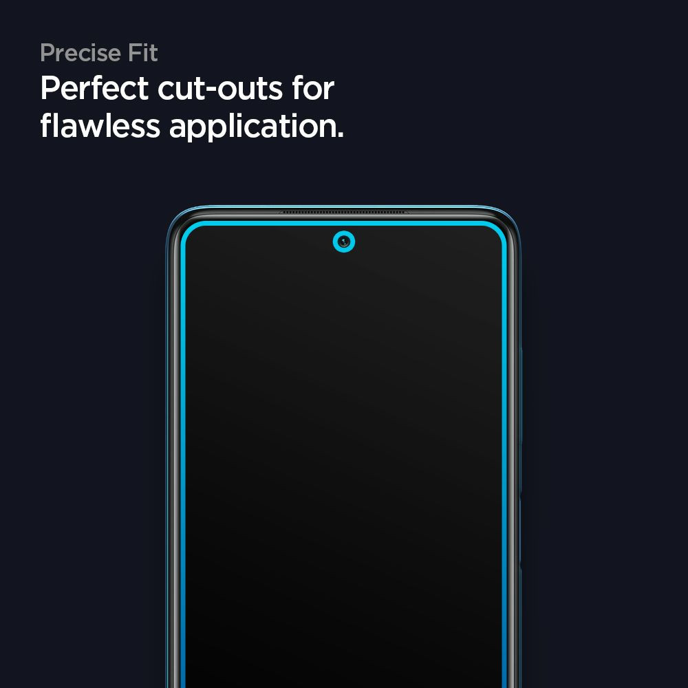 Защитное стекло Spigen Glass Fc для Xiaomi Poco X3 / Poco X3 Pro Black
