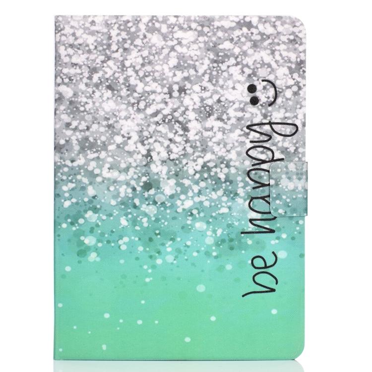 Чехол-книжка Electric Pressed Colored Drawing на iPad Air 10.9 2020 - Green Quicksand