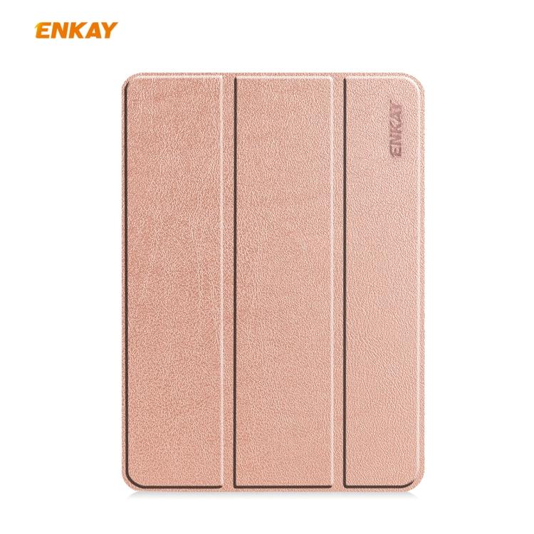 Чехол-книжка ENKAY ENK-8001 для iPad Pro 11 2020/2021/2018/Air 2020 - розовый