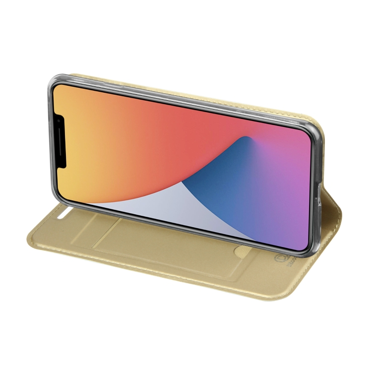 Золотой чехол-книжка DZGOGO ISKIN Series на Айфон 12 Про Макс