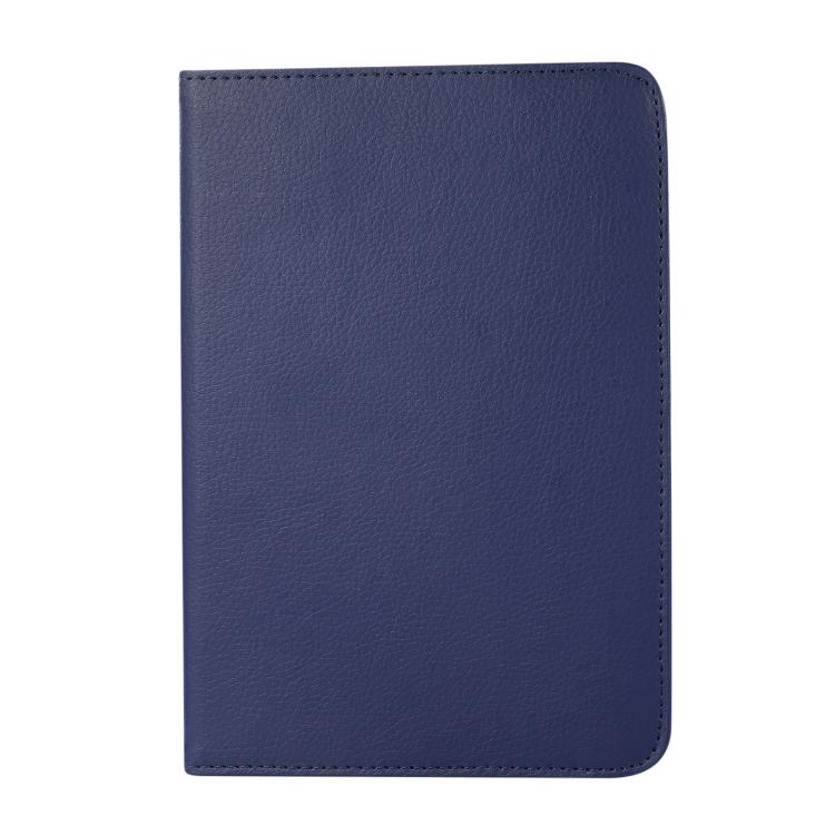 Синий кожаный чехол-книжка для Айпад мини 6