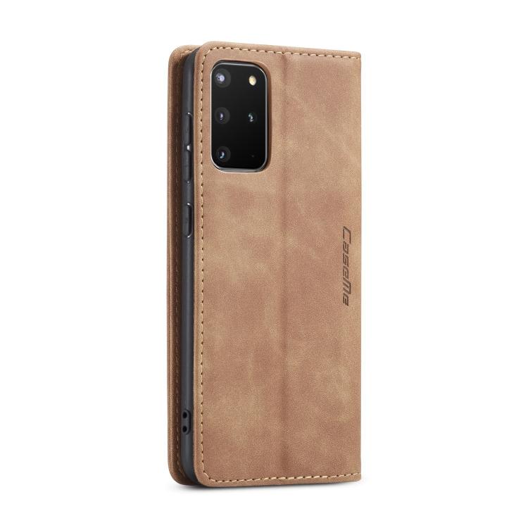 Кожаный чехол CaseMe-013 Multifunctional на Samsung Galaxy S20 Plus - коричневый