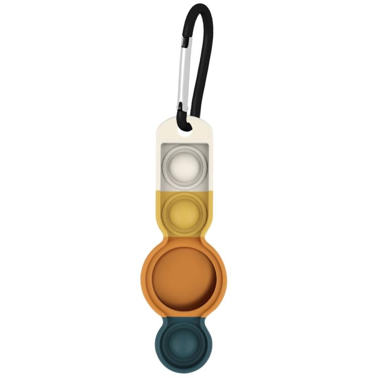 Брелок Color-contrast с карабином для AirTag - оранжево-зеленый