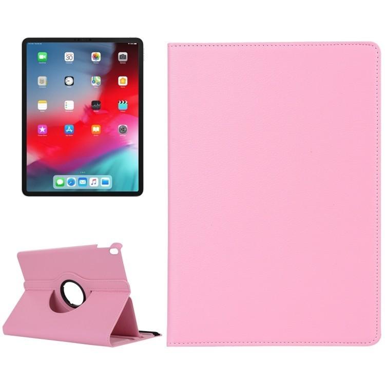 Кожаный Чехол 360 Degree Rotation Litchi для iPad Pro 11/2018-розовый