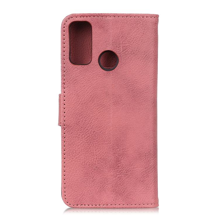 Чехол-книжка KHAZNEH Cowhide Texture на Samsung Galaxy A21s - розовый