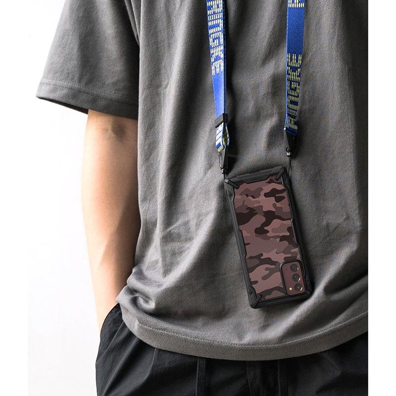 Оригинальный чехол Ringke Fusion X Design durable на Самсунг Галакси Note 20 Ultra black