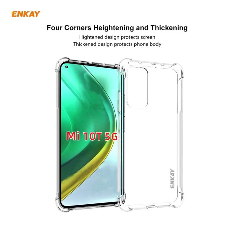 Защитный чехол ENKAY Clear + стекло 0.26mm 9H 3D Full Glue на Xiaomi MI 10T / 10T Pro - прозрачные