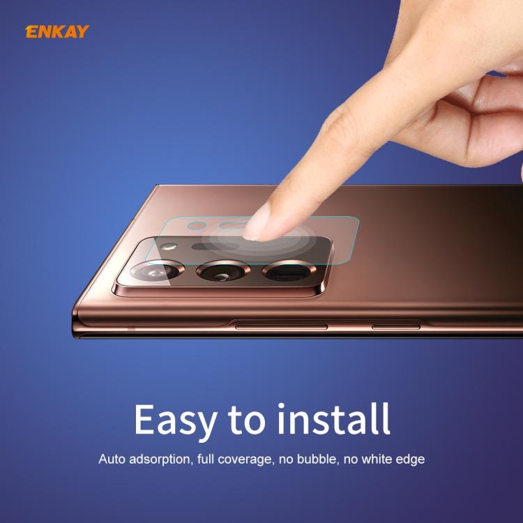 Защитное стекло на камеру 2 PCS Hat-Prince ENKAY 0.2mm 9H 2.15D для Самсунг Галакси Note 20 Ultra