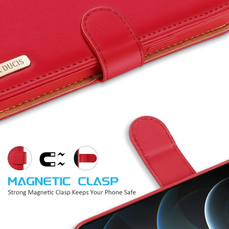 Красный чехол-книжка с магнитной защелкой для Айфон 12 Про Макс