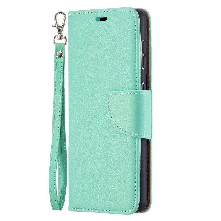 Зеленый чехол-книжка Litchi Pure на Samsung Galaxy S21 - зеленый