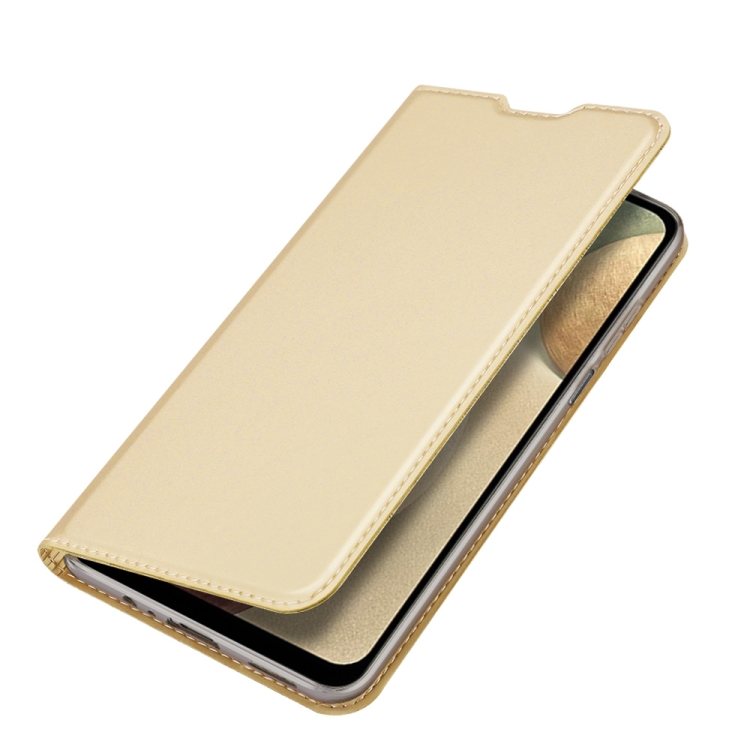 Чехол-книжка DUX DUCIS золотого цвета на Samsung Galaxy A12/M12