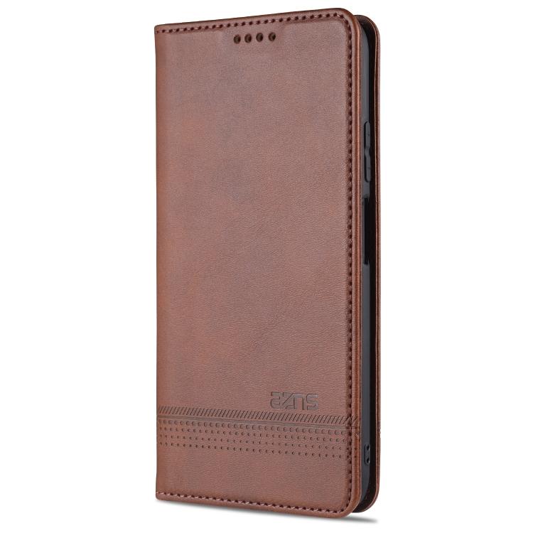 Чехол-книжка AZNS Magnetic Calf на Xiaomi Mi 10T / 10T Pro - темно-коричневый