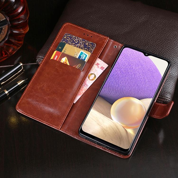 Черный чехол-книжка с карманами для кредиток на Самсунг Галакси A32 4G