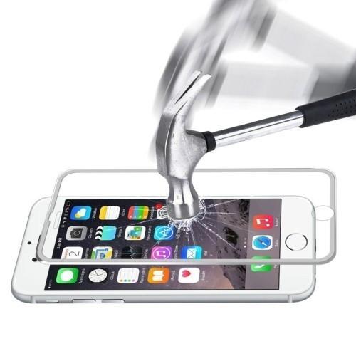 Защитное 3D Стекло на весь Экран Серебристое Enkay 0.2 мм 9H для Айфон 2020/8/7