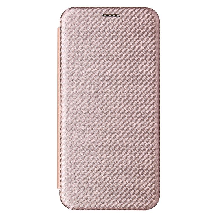 Чехол-книжка Carbon Fiber Texture на Xiaomi Redmi Note 10 Pro / Note 10 Pro Max - розовый