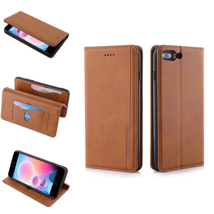 Чехол коричневого цвета на Айфон SE 2  с слотами под банковские карты