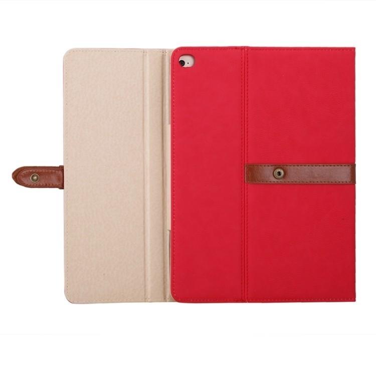 Кожаный чехол Bussiness Style на iPad 4 / New iPad / iPad 2 красный