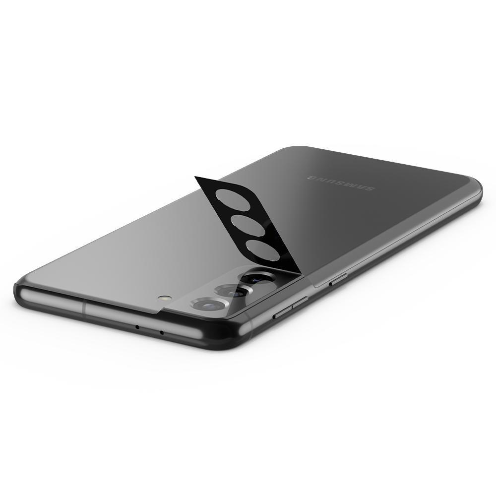 Защитное стекло на камеру Спиген Optik.Tr Camera Lens для Samsung Galaxy S21 Plus Black