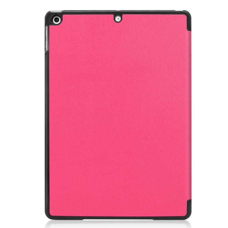 Чехол-книжка ударостойкий розового цвета с черной рамкой для Айпад 7 10.2