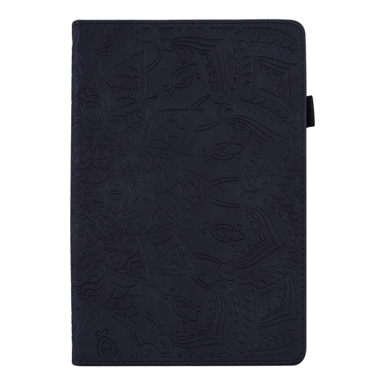 Черный кожаный чехол-книжка для Айпад 4