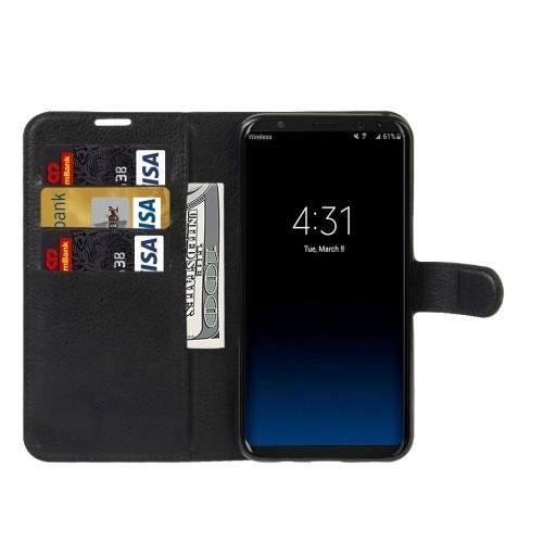 Кожаный чехол -книжка Litchi Texture Magnetic Buckle   на  Samsung Galaxy S8 / G950-черный