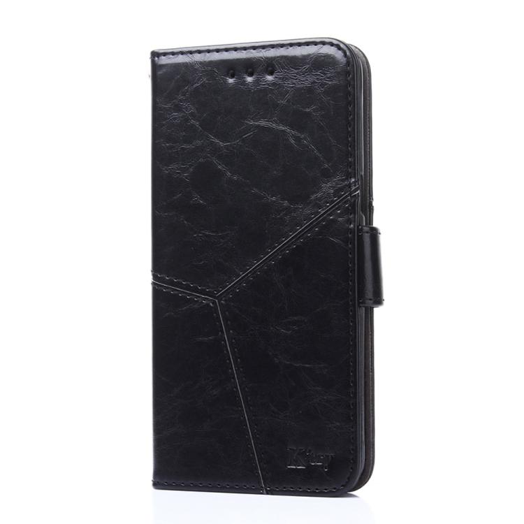 Кожаный чехол-книжка черного цвета на Сяоми Редми 9Т