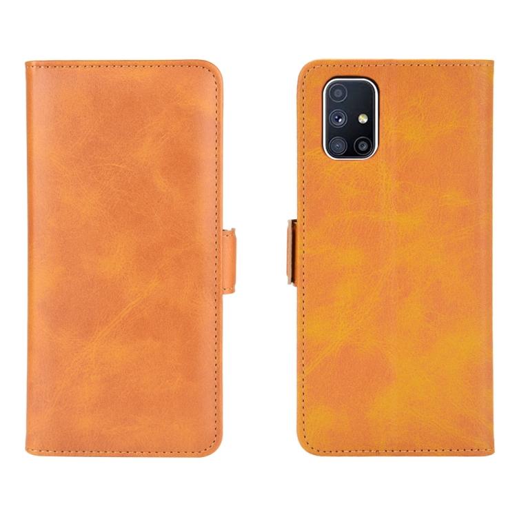 Чехол-книжка Dual-side Magnetic Buckle для Samsung Galaxy M51 - оранжевый
