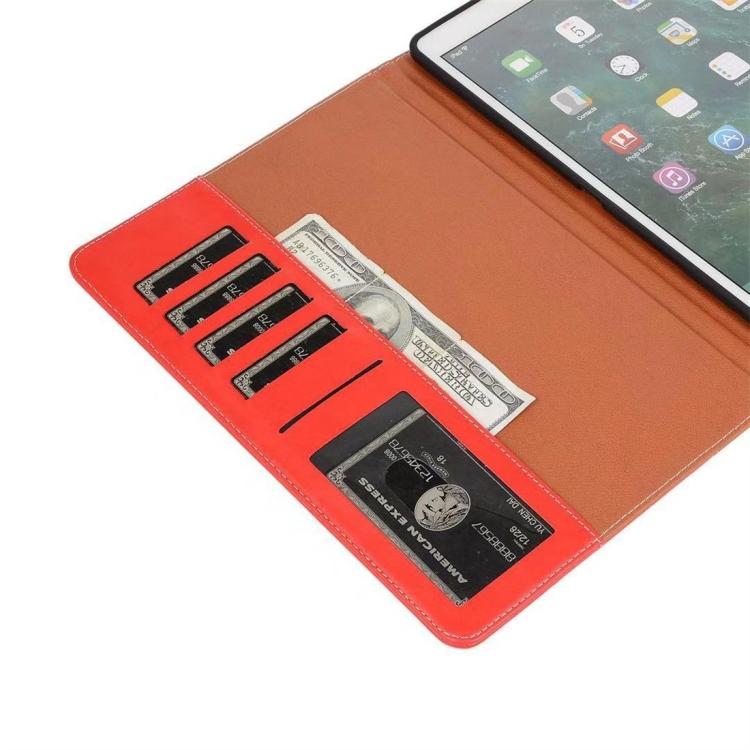 Кожаный чехол-книжка красного цвета с слотами под кредитки на Айпад мини 5