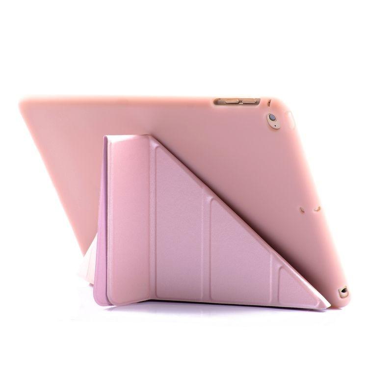 Чехол- книжка Solid Color с подставкой на Айпад 9.7 2017 / 2018 - розовое золото