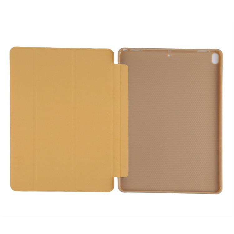 Чехол- книжка с силиконовым держателем на Айпад Эйр 3 2019-золотой