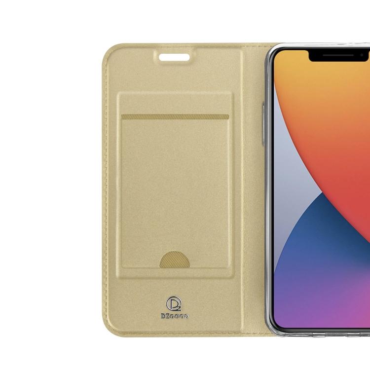 Золотой чехол-книжка со слотом для Айфон 12 Про Макс