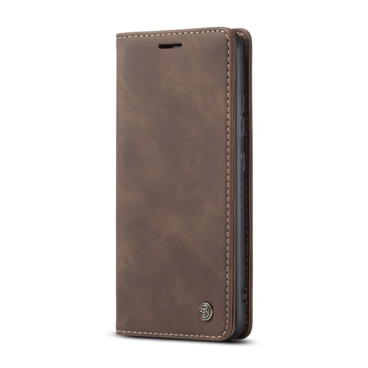 Кожаный чехол CaseMe-013 Multifunctional на Samsung Galaxy S10 Lite - кофейный