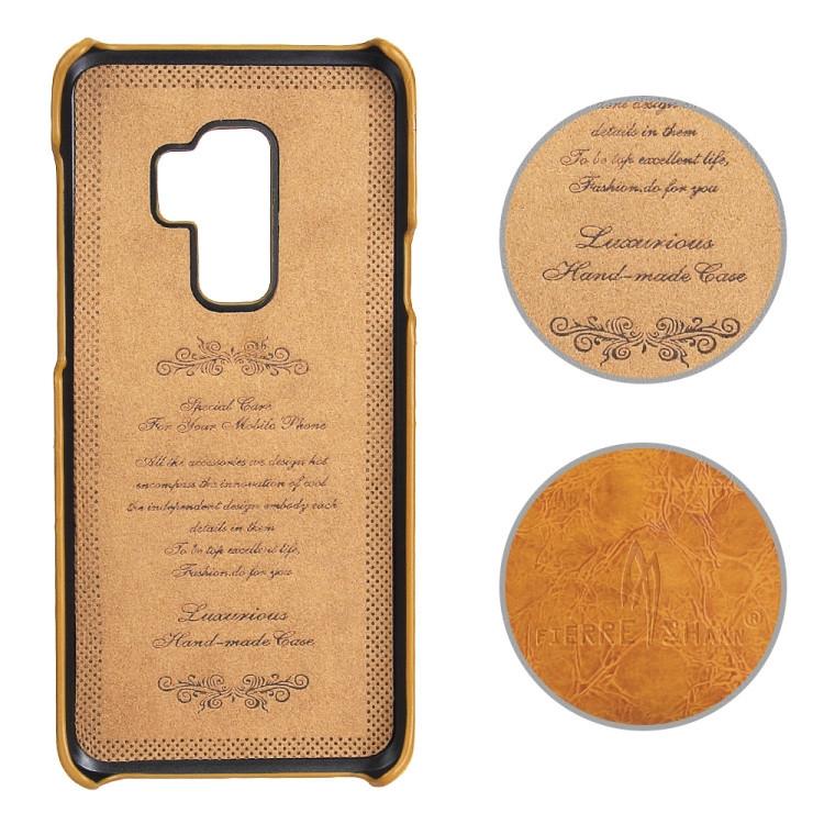 Кожаный чехол Retro Oil с микрофиброй Самсунг Галакси S9 Плюс-желтый