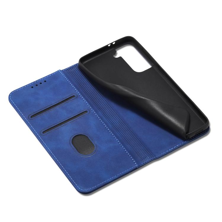 Синий чехол-книжка с отсеками для кредиток  на Самсунг Галакси С21