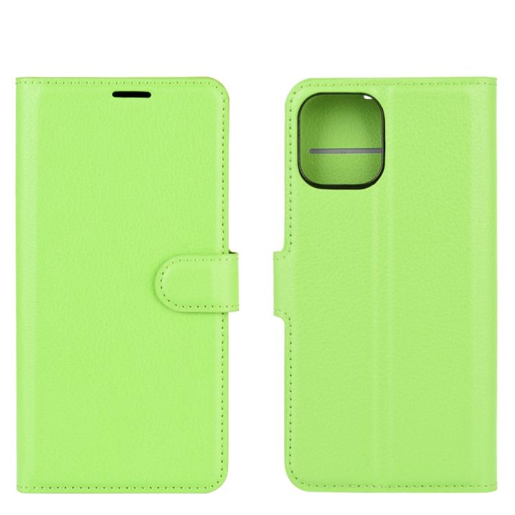 Зеленый чехол-книжка для Айфон 12