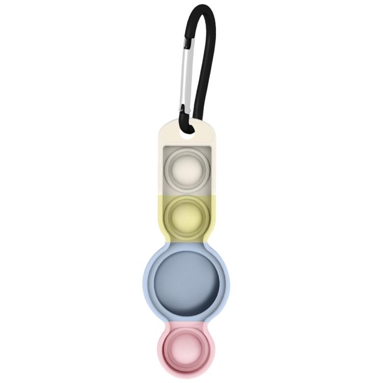 Брелок Color-contrast с карабином для ЭйрТег - розово-синий