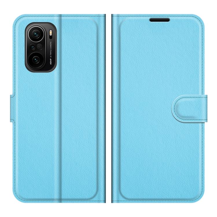 Чехол-книжка голубого цвета для Xiaomi Mi 11i/Redmi K40 Pro/K40/Poco F3