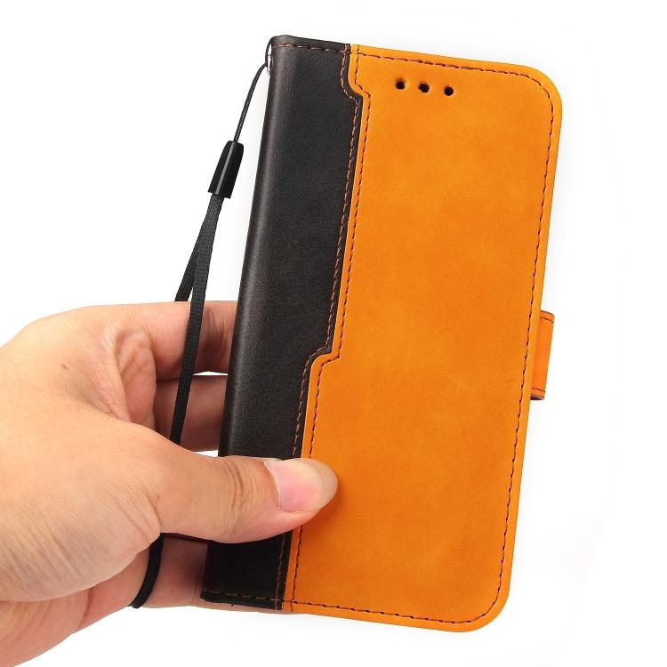 Чехол-книжка Business Stitching-Color для iPhone 13 Pro - оранжевый