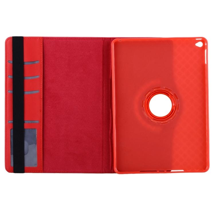 Чехол-книжка красного цвета с вырезом под логотип на Айпад Аир 2