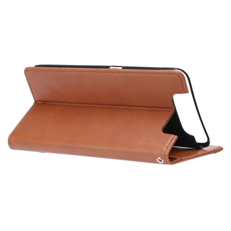 Чехол-книжка на Самсунг A80- коричневый