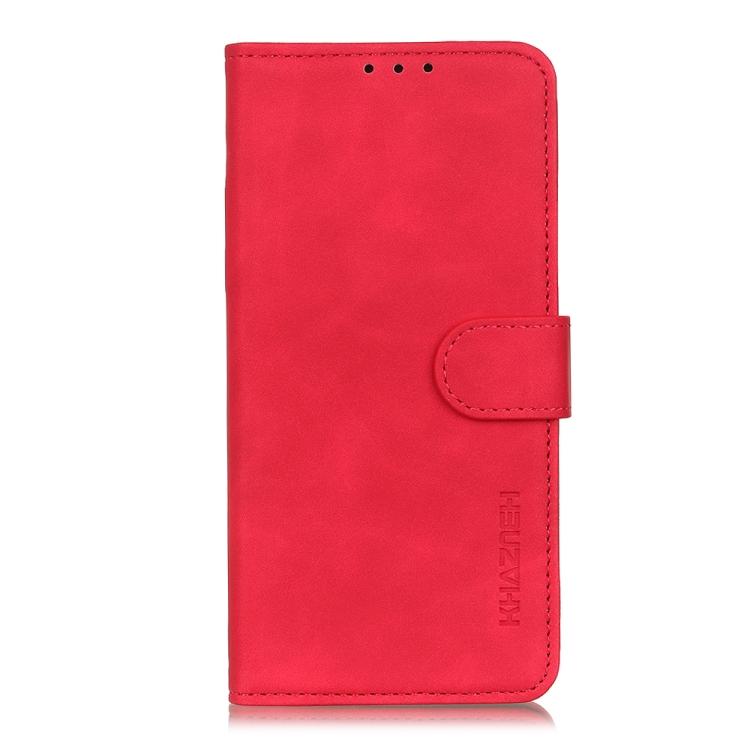 Чехол-книжка KHAZNEH Retro красного цвета на Xiaomi Mi 11 Lite 5G / 4G