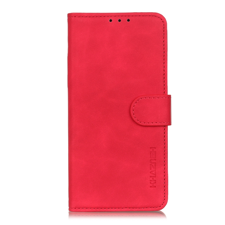 Чехол-книжка KHAZNEH Retro Texture на iPhone 12/12 Pro  - красный