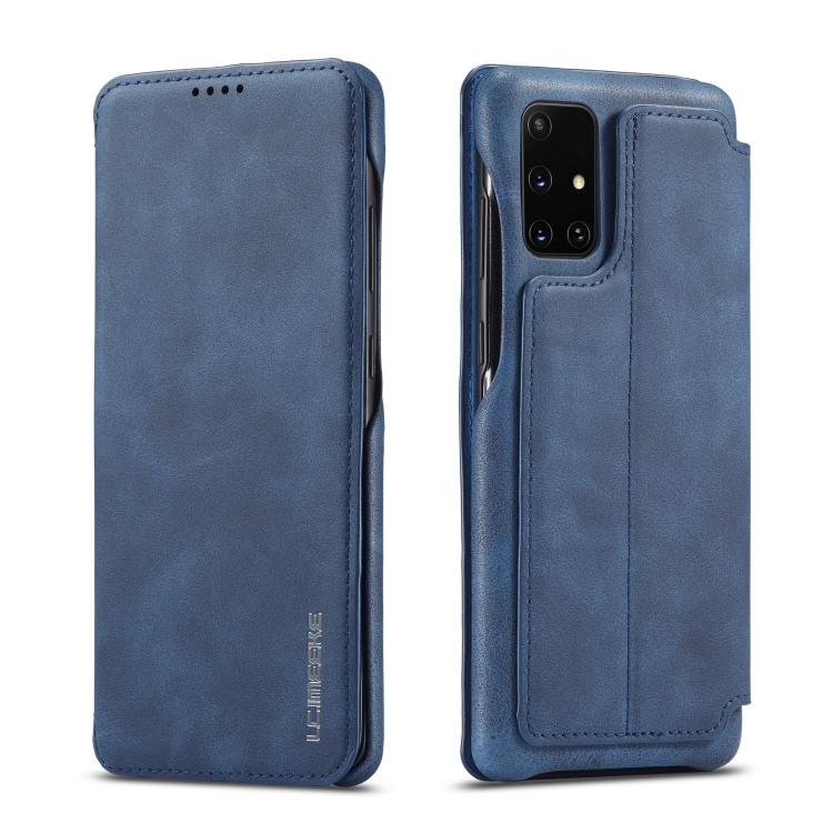 Синий чехол-книжка LC.IMEEKE на Samsung  Galaxy A51 / M40S