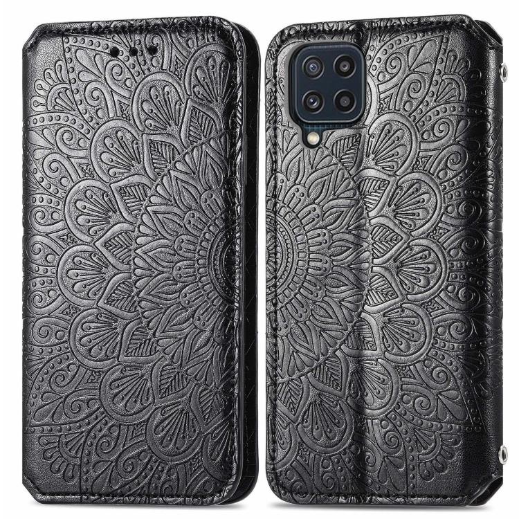 Чехол-книжка Blooming Mandala для Samsung Galaxy M32 - черный