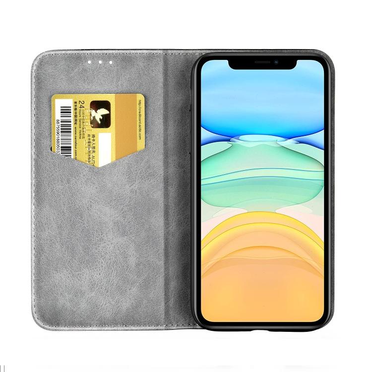 Чехол-книжка Business Solid Color для Айфон 13 - серый